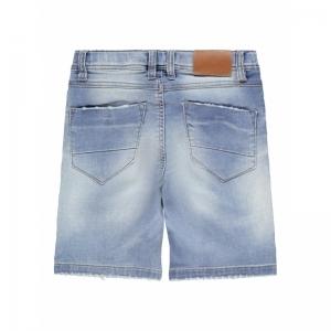 131225 Denim long shorts logo
