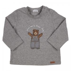 BJ T-SHIRT LM BEAR IN DUNGAREE logo